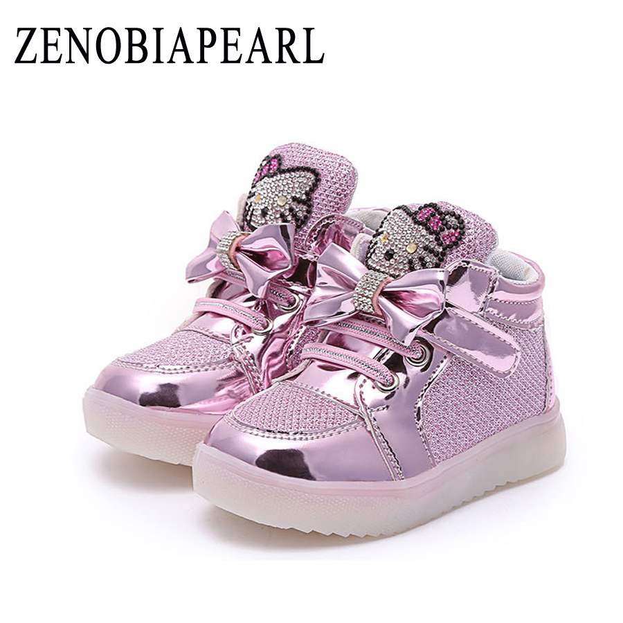 2019 Glowing Sneakers For Girls Luminous Sneakers With Backlight Children Footwear Led Light Shoes For Girls Licht  Shoes