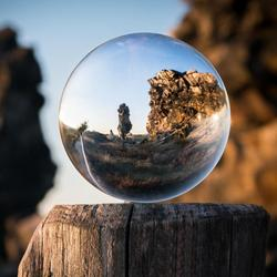 60/80mm Artificial Crystal Ball Natural Magic Healing Sphere Globe Photography Balls Crystal Craft Decor Gift