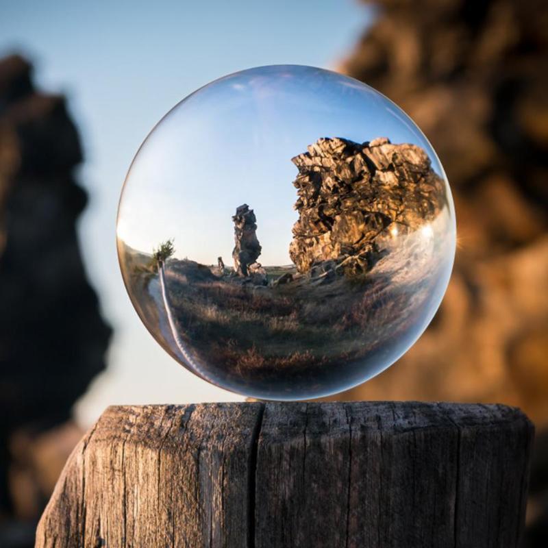 60/80mm Artificial bola de cristal magia Natural curación esfera globo fotografía bolas de artesanía de cristal regalo de la decoración