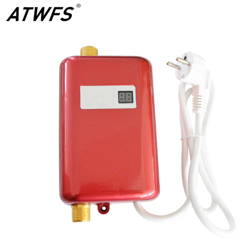 ATWFS Instantaneous Water Heater Electric 3800w 220v Instant Water Heater Shower For Swimming Pool Kitchen Heating Hot Water