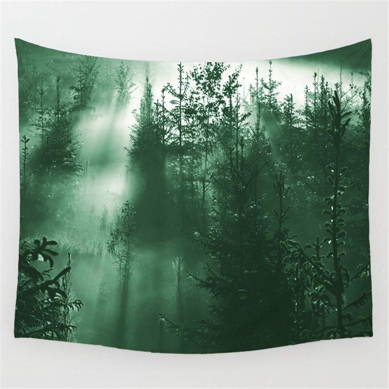 Tapestry Indischen Mandala Sonnenaufgang Tapisserie Wandbehang Wandteppiche Wald Tapisserie Bettdecke Yoga Mat Blanket Bett Tisch Tuch