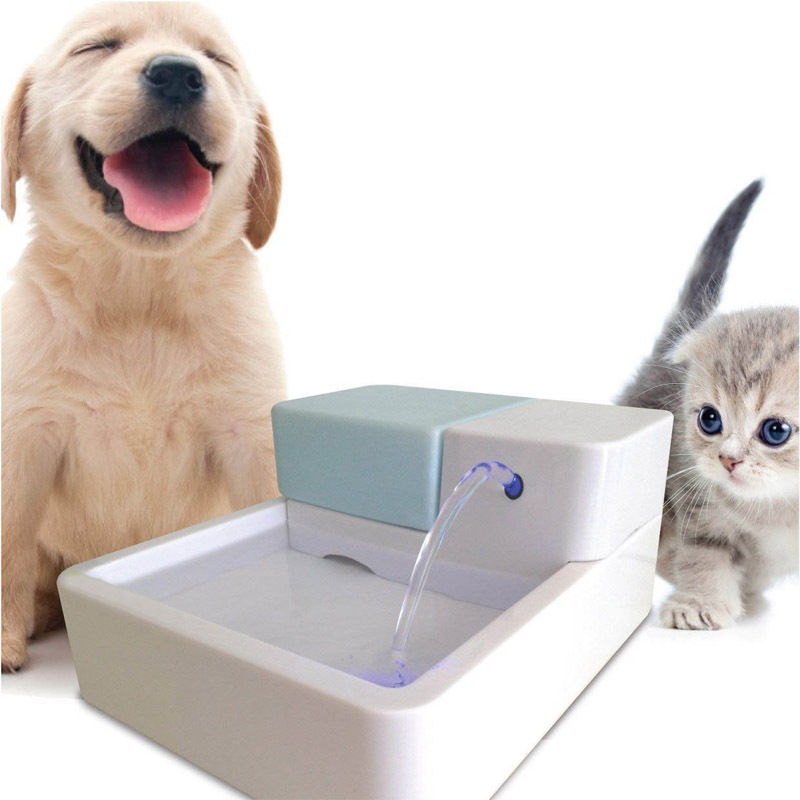 High Quality 1 8L LED AUTOMATIC CAT DOG KITTEN WATER DRINKING FOUNTAIN PET BOWL DRINK DISH