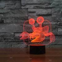 게 발광 선물 led 책상 램프 어린이 크리 에이 티브 제품 3d 램프 공장 도매 테이블 램프 거실