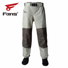 8 Fans Men's Women Fishing Waist Waders   3 Ply Durable Breathable and Waterproof  for Duck Hunting, Fly Fishing,Kayaking