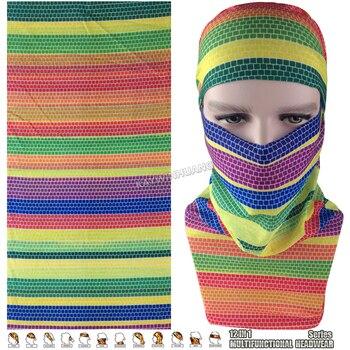EXPRESS SHIPPING 100pcs/lot (Mix Model OK) Nice Rainbow Dots Magic Mask Neck Warmer Multifunction Outdoor Bandana Tube Headwear