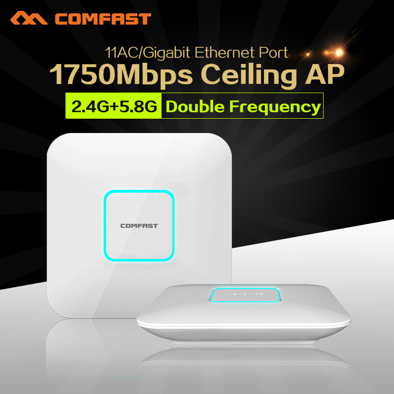 все цены на 2pcs 1750Mbps Gigabit LAN wireless Ceiling AP router 802.11AC 5.8G&2.4G ac POE WIFI router &WiFi Access Point AP support OpenWRT онлайн