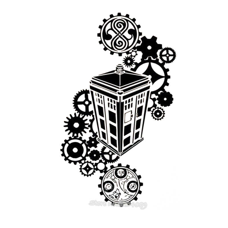 Tardis Doctor Who silhouette Wall Stickers Vinyl Decals