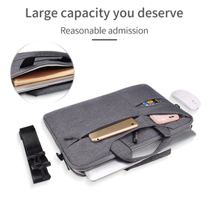 "Image 2 - Waterdicht Vrouwen Mannen Laptop Tas 13.3 15.4 ""Case voor Macbook Air 13 15 Tas 11 12 14 Macbook Pro 15 touch bar Mouw met Riem"