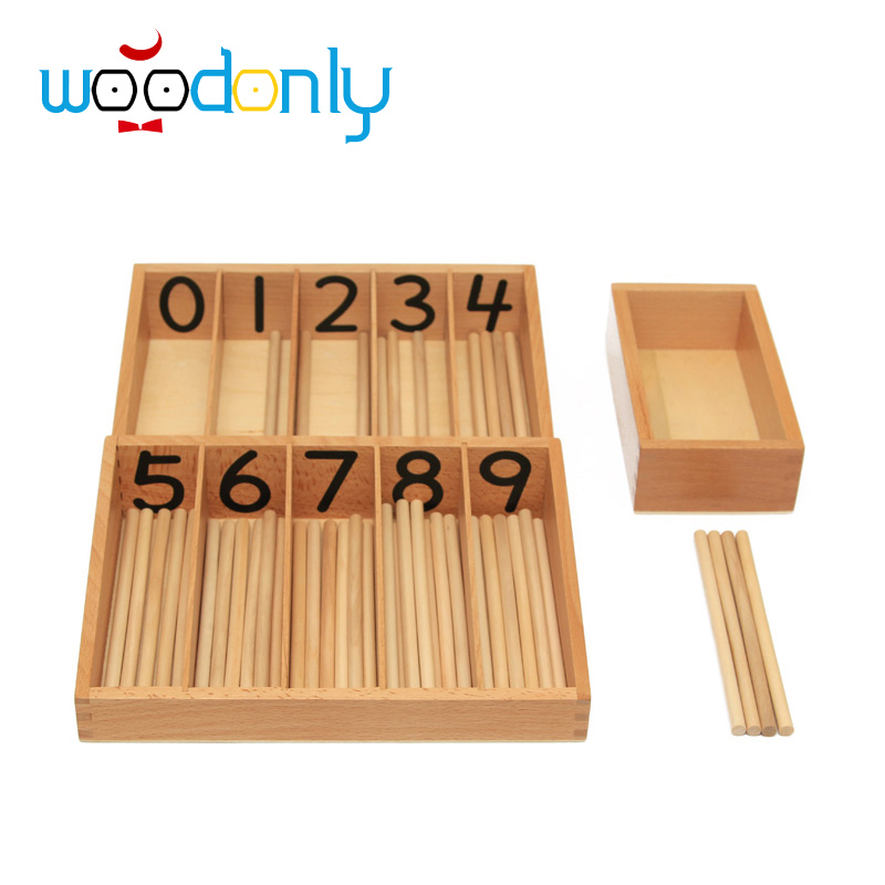 Montessori Professional Math Games Number Stick Toys Educational Baby Learning Materials Wooden Toys For Children oyuncak wooden educational tool number building blocks number sticks kids math learning educational toy ao p