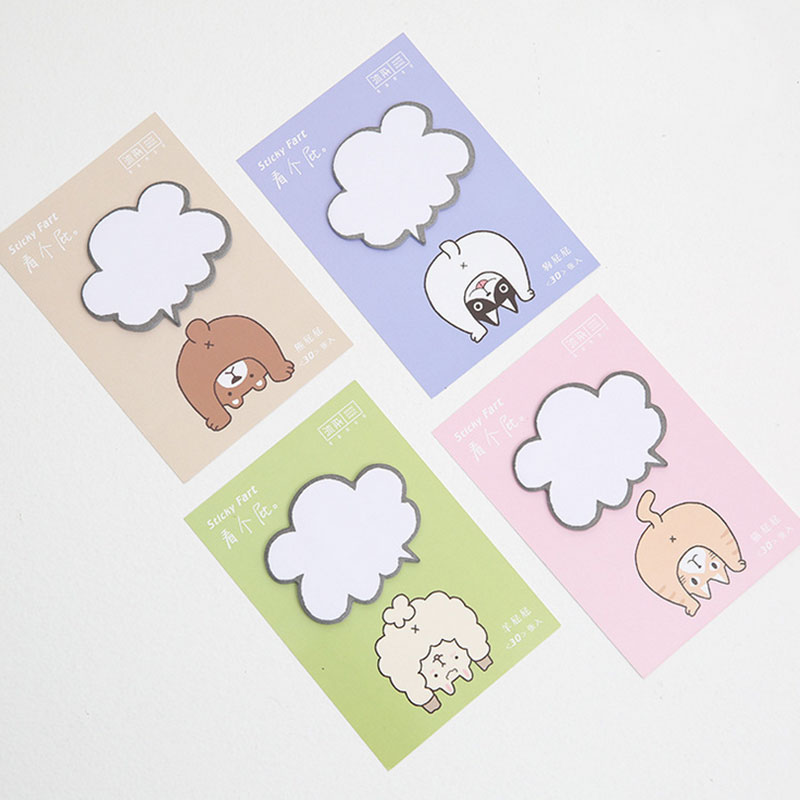 2 pcs/lot personality Animal buttocks ememo pad paper sticky notes post notepad stationery papeleria school supplies