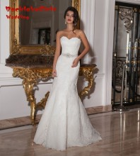 fashion mermaid long wedding dress 2017 custom made sweetheart apliques lace women bridal marry gowns plus size vestido de noiva
