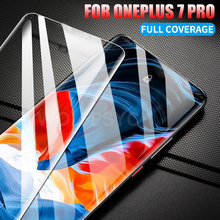 KEYSION Full Coverage Tempered Glass Film For Oneplus 7 Pro Anti-Fingerprint HD Screen Protector For One plus 7 Pro 1+7 6T