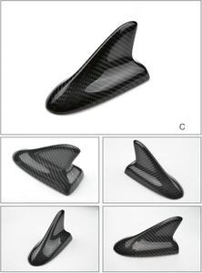 Image 3 - אוטומטי סיבי פחמן כריש סנפיר אווירי גג סגנון אוטומטי שונה רכב אנטנות רכב סטיילינג אנטנה