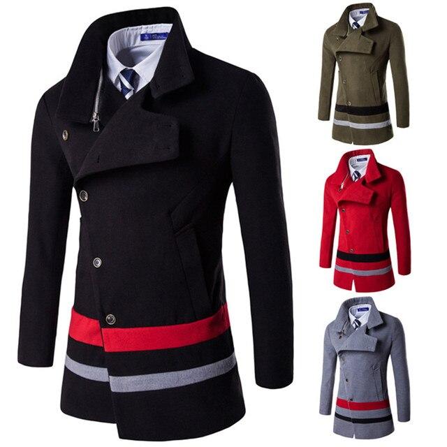 New autumn Winter Stitching jacket Coat menu0027s slanting door lock coat Casual high quality fashion plus  sc 1 st  AliExpress.com & New autumn Winter Stitching jacket Coat menu0027s slanting door lock ...