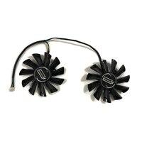 2 pçs/set PLD09210S12HH RX570 RX470 RX480 ARMADURA GPU VGA Cooler Fan Para MSI RX 470/570/480 ARMADURA Termos Gráficos de Resfriamento da Placa De Substituição|Ventiladores e resfriadores| |  -