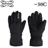 Winter Snowboard Finger Gloves Outdoor Snow Snowmobile Riding Motorcycle Women Men Sport Gloves Windproof Waterproof