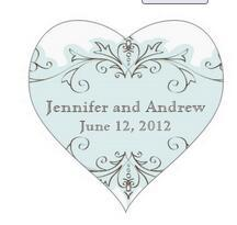 1.5inch Blue Swirls Wedding Favor Stickers