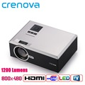 Crenova XPE470 1200 Lumens Free HDMI Cable LED Mini Projector 1000:1 Contrast Support 1920x1080P Home Cinema Proyector TV Beamer
