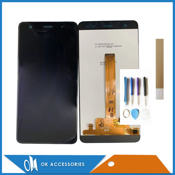 5.5 Inch For Quantum MUV Up Q13 LCD Display+Touch Screen Digitizer Without LOGO Black Gold Color With Tools Tape