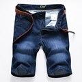 Nueva marca de Verano Para Hombre Pantalones Cortos Pantalones Vaqueros 100% Algodón de diseño de moda de los hombres de la marca