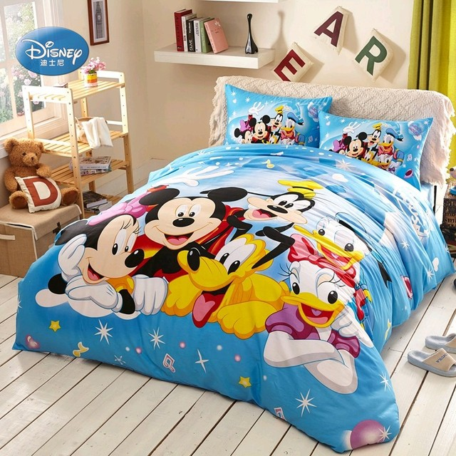 Disney Donald Duck Mickey Maus Bettwäsche Sets Kinder Schlafzimmer