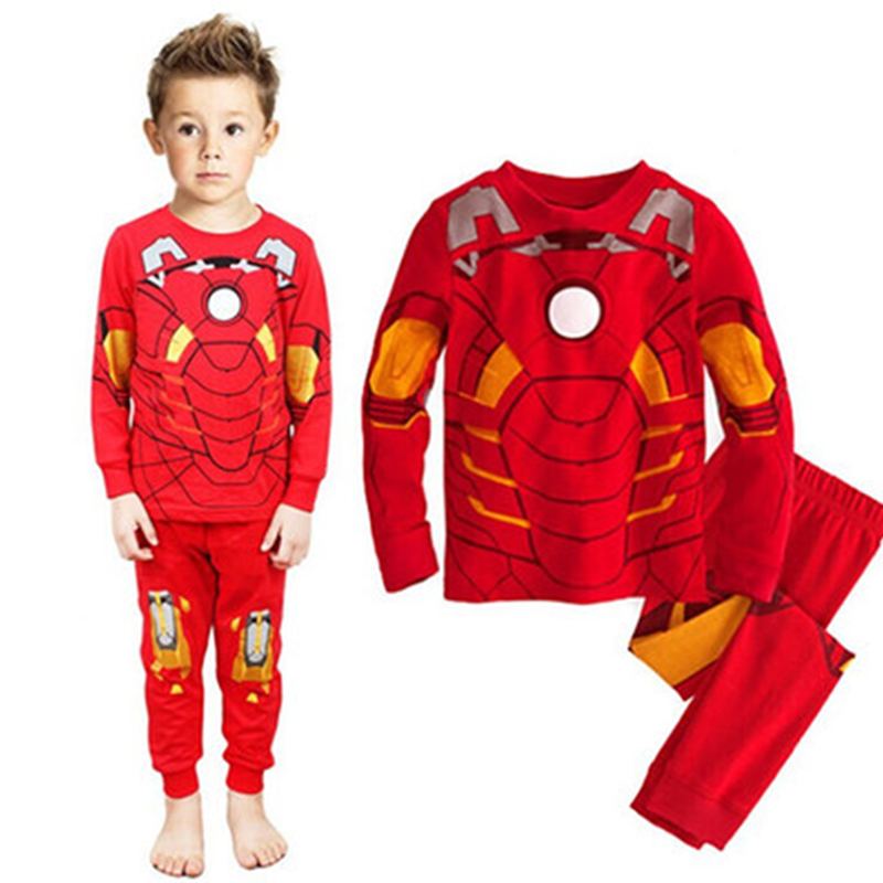 Avengers Iron Man Cosplay Children Clothing 2018 Shirt Boys Sleepwear Pajamas Kids Onesi ...