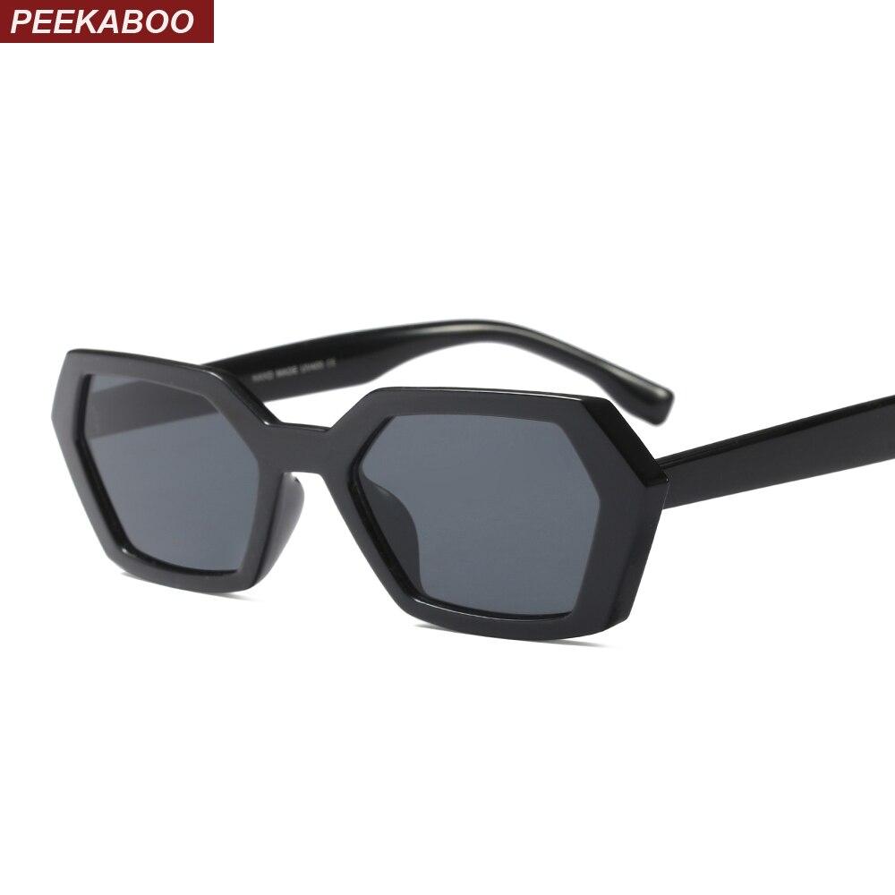 Peekaboo black polygon sunglasses women square green leopard 2018 summer accessories men fashion sun glasses vintage unisex