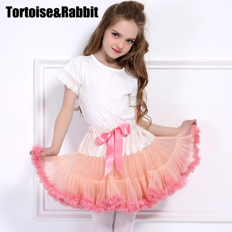 2017 Kids Princess Litter Girl Tutu Skirt Dance Ballerina Pettiskirt Toddler Fluffy Ballet Skirt For Girls Party Tulle Miniskirt