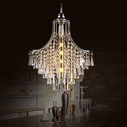 Luksusowa prosta kreatywna kryształowa lampa wisząca do salonu jadalnia restauracja okrągła lampa Fahion wysokiej jakości