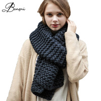 Hot Sale 2016 New Fashion Style Unisex Winter Knitted Scarves Acrylic Collar Neck Warmer Woman Crochet