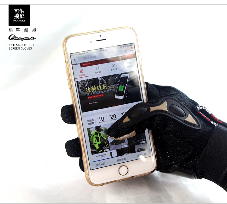 Free Shipping Touch Screen Motorcycle gloves retro PRO Moto racing gloves Men's Motocross full finger gloves M/L/XL/XXL