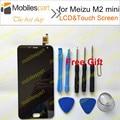 ЖК-Экран для Meizu M2 mini Новый Высокое Качество ЖК-дисплей + Сенсорный Экран Для Meizu M2 mini 5.0 дюймовый Смартфон в на складе