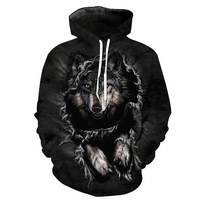HD DST 2018 Men S 3D Wolf Printing Hoodies Sweatshirts Hot Sale Fashion Casual Hooded