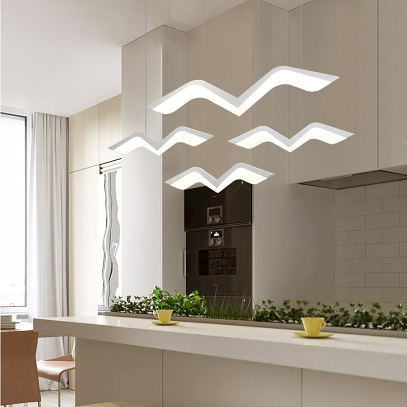 Image 2 - NEO Gleam Modern Led Pendant Lights For Dining Living Room Bar suspension luminaire suspendu Pendant Lamp Fixtures-in Pendant Lights from Lights & Lighting