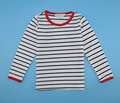 Hot selling 2016  90~130 girls summer t shirts for children tops tees child  t-shirts stripe
