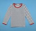 Venta caliente 2016 90 ~ 130 de las muchachas del verano camisetas para niños tops tees camisetas de la raya del niño