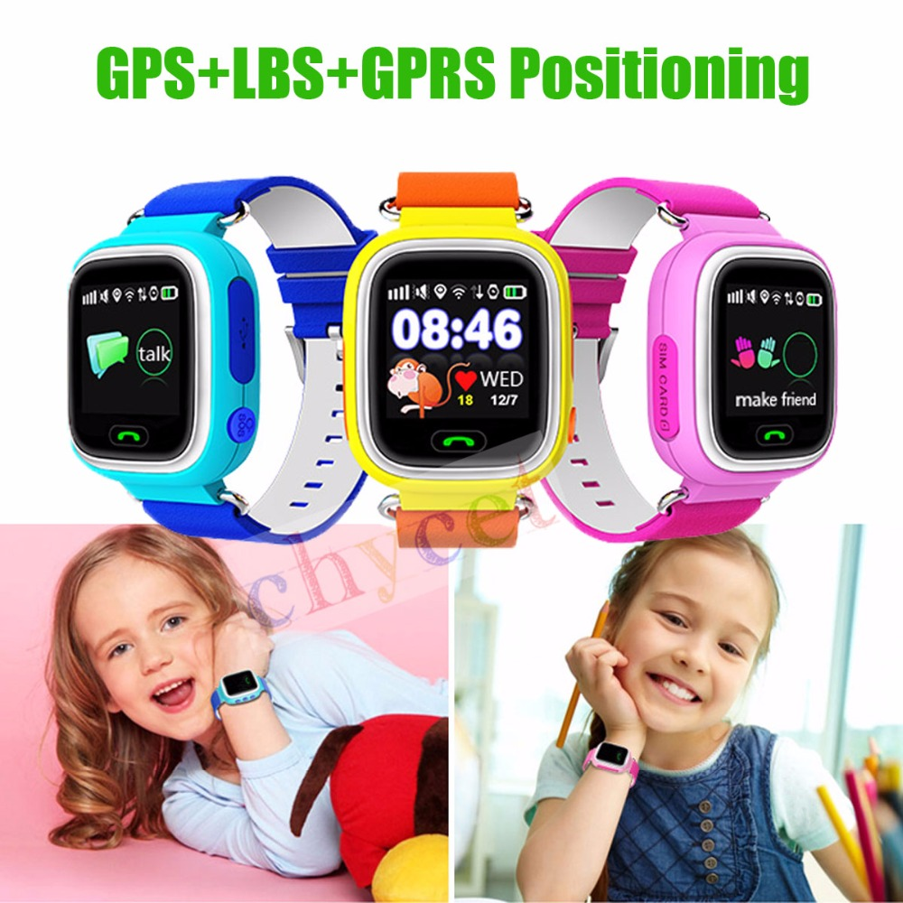 Original Q90 GPS smart watch baby watch touch screen SOS Call Location DeviceTracker for Kid Safe Anti-Lost Monitor PK Q80 Q60 smart baby watch q60 детские часы с gps розовые