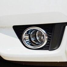 ABS Chrome For Honda FIT JAZZ 2014 2015 2016 Car front fog lamp light frame cover trim car styling accessories fit for 2014 honda fit jazz chrome front rear headlight tail light cover trim