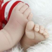 NPKDOLL Baby Reborn Real Newborn Soft Silicone Reborn Baby Dolls Birthday Gifts Fashion Stuffed Doll Toys