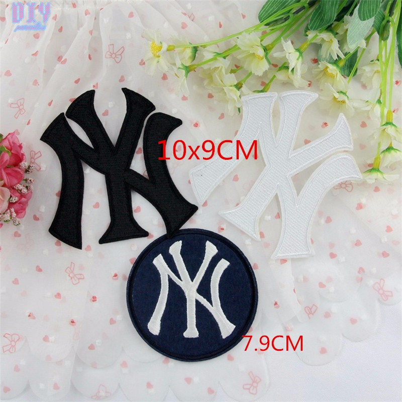 20pcs ny letter embroidered sew iron on patches applique badge fabric apparel sewing crafts diy