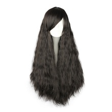 Mcoser 70 см Синтетические длинные коричневый, черный 5 стилей на молнии парик 100% высокая температура волокно волоса парик-46