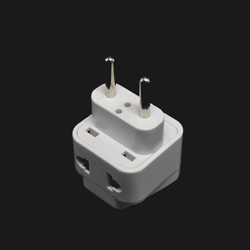 5 x Black/White Universal Converter UK USA AU To EU Europe Plug Wall Socket Travel Adapter 2in1 European Plug Adaptor Converter