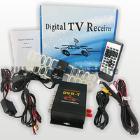 HD DVB T MPEG4 TV Receiver Box Tuner Dual Antenna Car Mobile Digital Tv Box for European countries