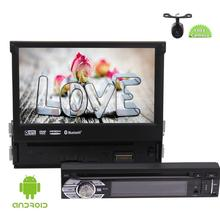 Newest Android 6.0 Car DVD Player One Din Automotive Stereo GPS Navigation Head Unit Autoradio Bluetooth Video Audio Wifi+Camera