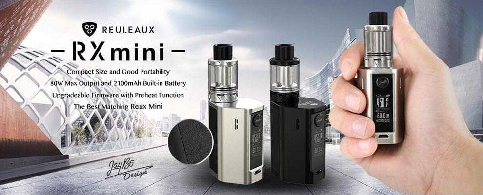 100% Original WISMEC Reuleaux RX mini Kit 80W Box MOD 2100mAh Bult-in Battery rx mini 80w Mod with 2ml Atomizer Tank (8)
