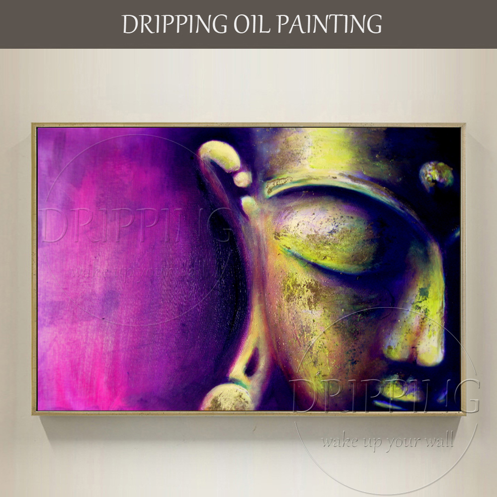 Artist Hand-painted High Quality Abstract Modern Portrait Buddha Oil Painting on Canvas Hand-painted Buddha Head Oil Painting