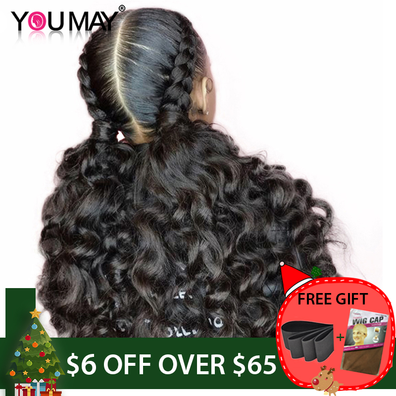 Pré Pincées Full Lace Perruques Avec Bébé Cheveux 150% Sans Colle Lâche Armure de Cheveux Humains Pleine Perruque de Lacet Pour Femmes Vous peut Remy Cheveux Ondulés