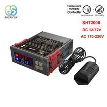 все цены на SHT2000 Digital Humidity Controller Temperature Controller for Fridge Thermostat Thermometer Hygrometer AC 110V 220V DC 12V 10A онлайн