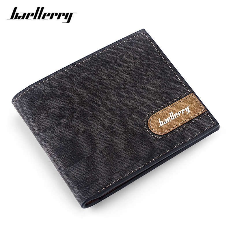 Baellerry Casual Small Wallet for Men, Thin Canvas Purse Men's Wallets Card Holders Solid Male Money Bags Carteira Wholesale baellerry small mens wallets vintage dull polish short dollar price male cards purse mini leather men wallet carteira masculina