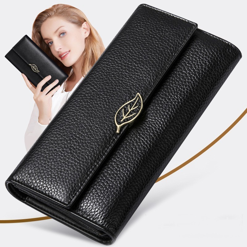 Luxury Brand Women Genuine Leather Wallets Long Hasp Zipper Clutch Bag Coin Purse Card Holders Ladies Handbags Carteira Feminina long women wallets pu leather large capacity card holders ladies zipper clutch wallets print pineapple purse carteira feminina